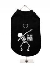 ''Halloween: Dabbing In My Bones'' Harness-Lined Dog T-Shirt